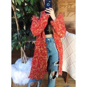 🌿 Vintage Y2K Chunky Knit Longline Cardigan 🌿